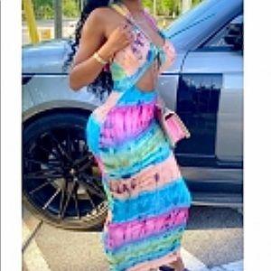 Brand New Cut Out Summer Dress Size Jrs L